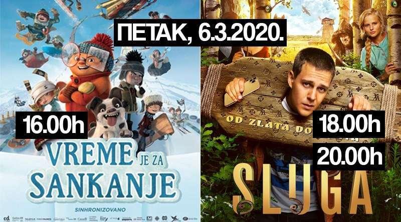 """6. марта у которварошком биоскопу: """"Вријеме је за санкање""""  и """"Слуга"""""""