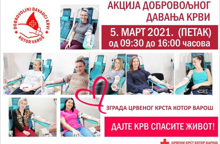 Фото вијест: 5. марта акција добровољног давања крви