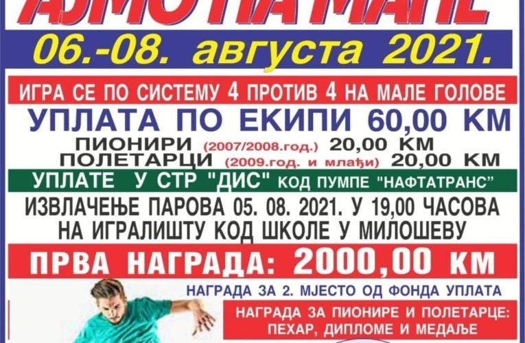"""Данас почиње турнир у малом фудбалу """"Милешево 2021"""" (Челинац)"""